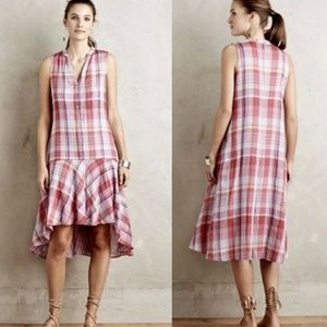 Pippa Swing Dress XSP Plaid Anthropologie Maeve